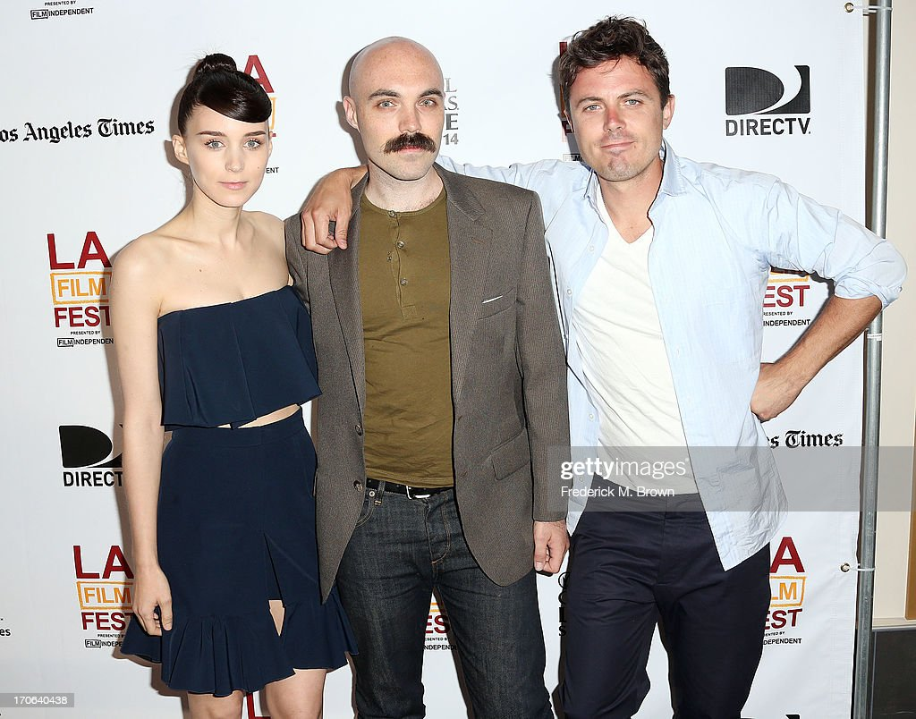 (L-R Actress <a gi-track='captionPersonalityLinkClicked' href=/galleries/search?phrase=Rooney+Mara&family=editorial&specificpeople=5669181 ng-click='$event.stopPropagation()'>Rooney Mara</a>, writer/director David Lowery and actor <a gi-track='captionPersonalityLinkClicked' href=/galleries/search?phrase=Casey+Affleck&family=editorial&specificpeople=1539212 ng-click='$event.stopPropagation()'>Casey Affleck</a> attend the 2013 Los Angeles Film Festival screening of IFC Films' 'Ain't Them Bodies Saints' at the Regal Cinemas L.A. Live on June 15, 2013 in Los Angeles, California.