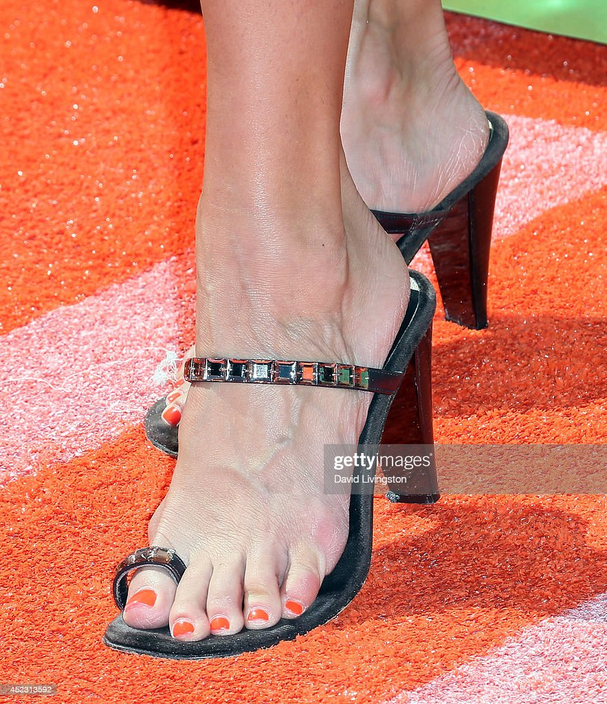 Actress Rosa Blasi (shoe detail) attends the Nickelodeon Kids' Choice Sports Awards 2014 at Pauley Pavilion on July 17, 2014 in Los Angeles, California.