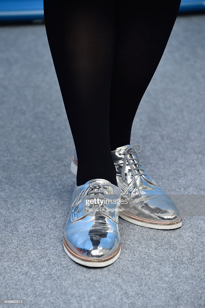 Actress Rosalie Thomass, fashion detail, attends the 'Gruesse aus Fukushima' (Fukushima, Mon Amour) photo call during the 66th Berlinale International Film Festival Berlin at Grand Hyatt Hotel on February 13, 2016 in Berlin, Germany.