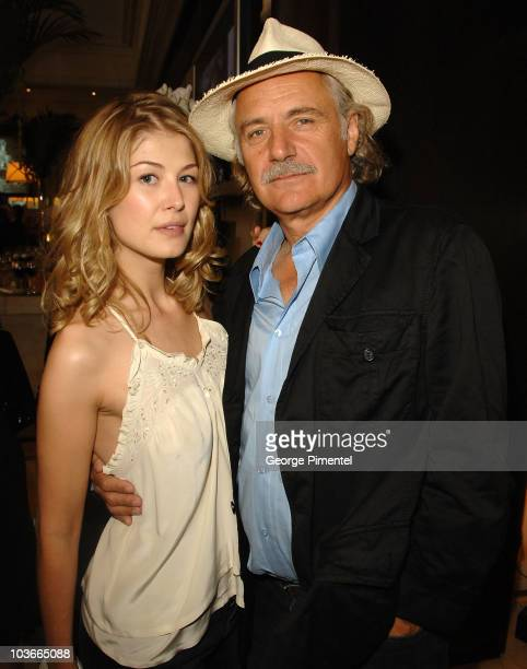 Actress Rosamund Pike and actor Rade Serbedzija at The 32nd Annual Toronto International Film Festival George Christy Luncheon on September 8 2007 in...