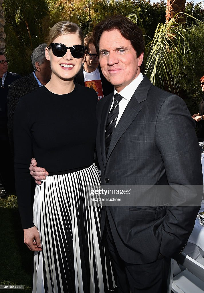 Actress Rosamund Pike and honoree Rob Marshall attend Variety's Creative Impact Awards and '10 Directors To Watch' brunch presented by Mercedes Benz...