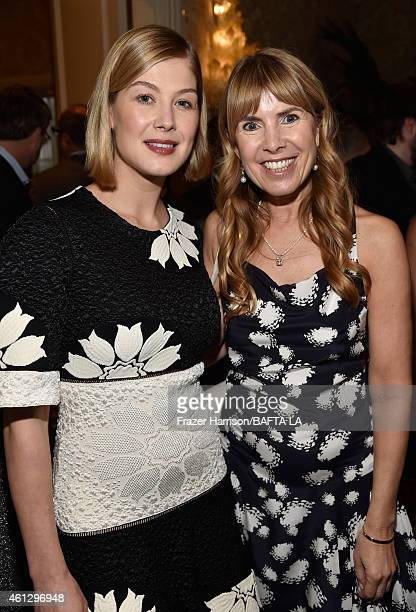 Actress Rosamund Pike and Julia Verdin attend the BAFTA Los Angeles Tea Party at The Four Seasons Hotel Los Angeles At Beverly Hills on January 10...
