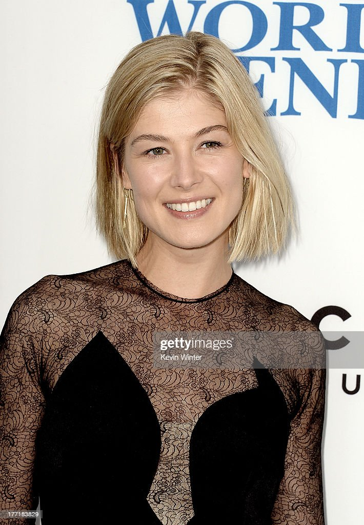 Actress Rosamund Pike arrives at the premiere of Focus Features' 'The World's End' at ArcLight Cinemas Cinerama Dome on August 21, 2013 in Hollywood, California.