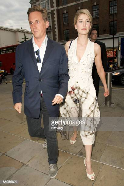 Actress Rosamund Pike arrives for the Jaguar XJ launch on July 9 2009 in London England