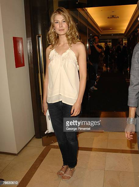 Actress Rosamund Pike at The 32nd Annual Toronto International Film Festival George Christy Luncheon on September 8 2007 in Toronto Canada