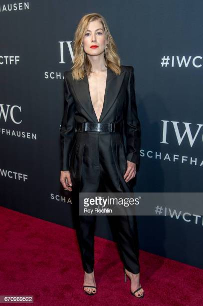 Actress Rosamund Pike attends 'For The Love Of Cinema' Gala Dinner at Spring Studios on April 20 2017 in New York City