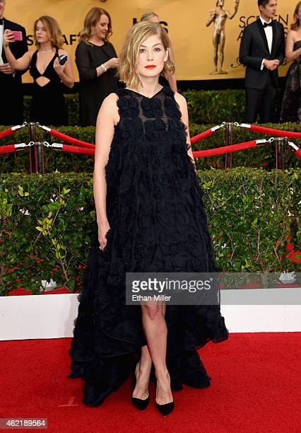 Actress Rosamund Pike attends the 21st Annual Screen Actors Guild Awards at The Shrine Auditorium on January 25 2015 in Los Angeles California