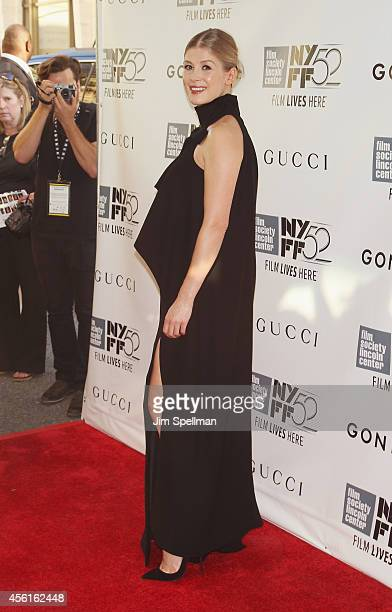 Actress Rosamund Pike attends the 52nd New York Film Festival Opening Night Gala Presentation and World Premiere Of 'Gone Girl' at Alice Tully Hall...