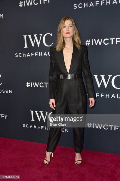 Actress Rosamund Pike attends the 5th Annual IWC Schaffhausen Tribeca Film Festival 'For The Love Of Cinema' Gala at Spring Studios on April 20 2017...