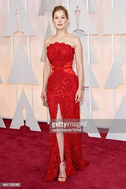Actress Rosamund Pike attends the 87th Annual Academy Awards at Hollywood Highland Center on February 22 2015 in Hollywood California