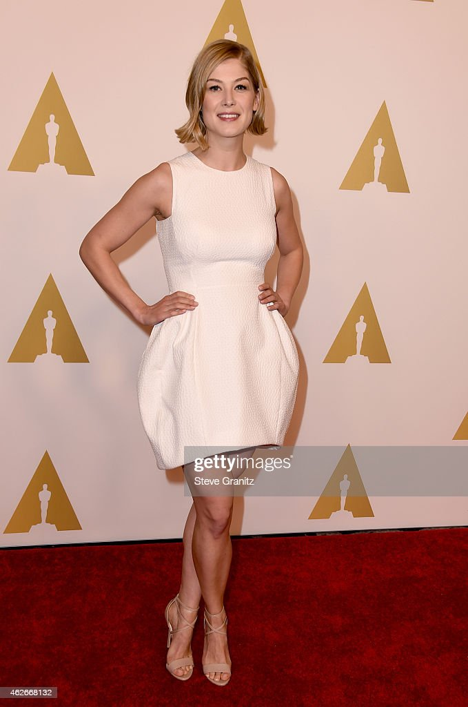 Actress Rosamund Pike attends the 87th Annual Academy Awards Nominee Luncheon at The Beverly Hilton Hotel on February 2 2015 in Beverly Hills...