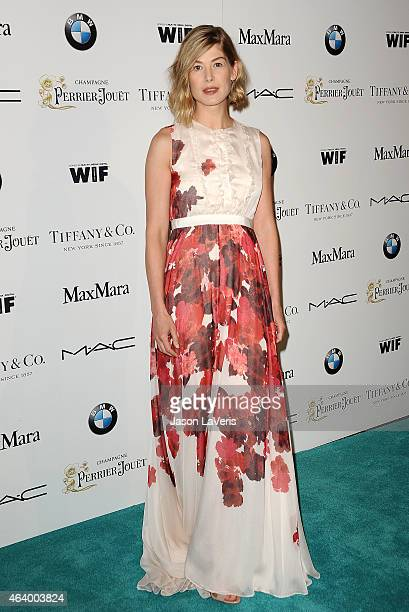 Actress Rosamund Pike attends the 8th annual Women In Film PreOscar cocktail party at HYDE Sunset Kitchen Cocktails on February 20 2015 in West...