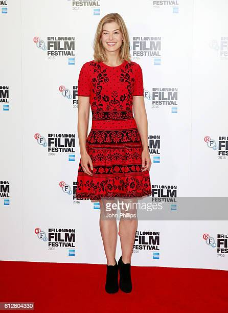 Actress Rosamund Pike attends the 'A United Kingdom' photocall during the 60th BFI London Film Festival at The Mayfair Hotel on October 5 2016 in...