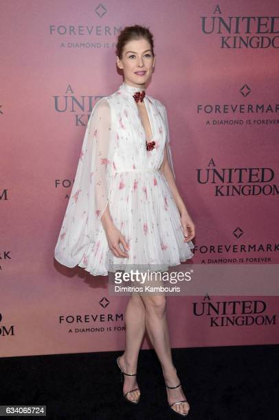 Actress Rosamund Pike attends the 'A United Kingdom' World Premiere at The Paris Theatre on February 6 2017 in New York City