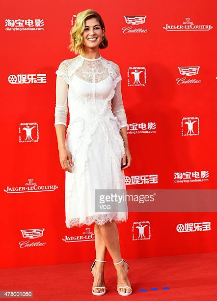 Actress Rosamund Pike attends The Awards Closing Ceremony of the 18th Shanghai International Film Festival at Shanghai Grand Theatre on June 21 2015...