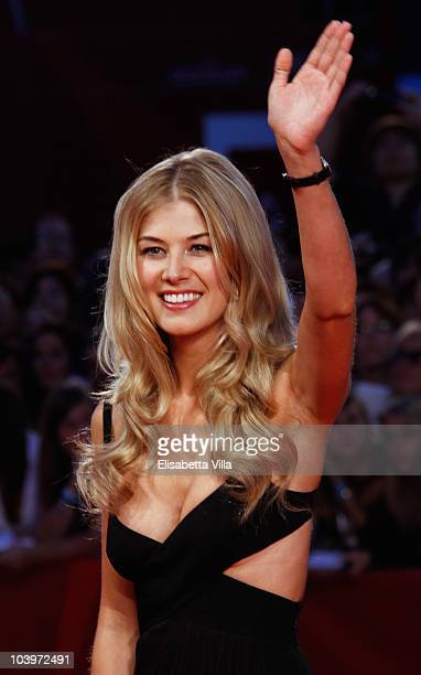 Actress Rosamund Pike attends the 'Barney's Version' premiere during the 67th Venice Film Festival at the Sala Grande Palazzo Del Cinema on September...
