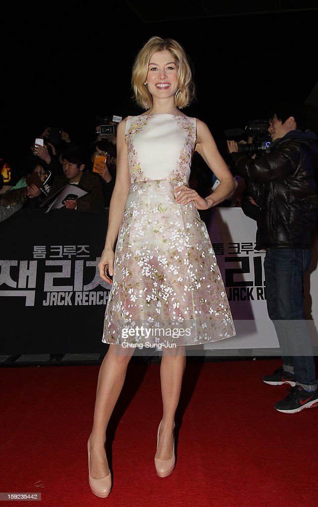 Actress Rosamund Pike attends the 'Jack Reacher' Fan Screening at Busan Cinema Center on January 10, 2013 in Busan, South Korea. The film will open on January 17 in Korea.