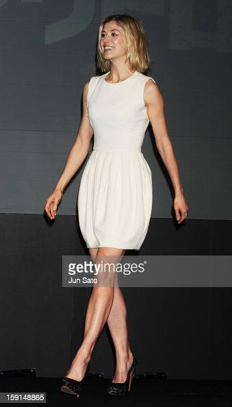 Actress Rosamund Pike attends the 'Jack Reacher' press conference at the Ritz Carlton Tokyo on January 9 2013 in Tokyo Japan