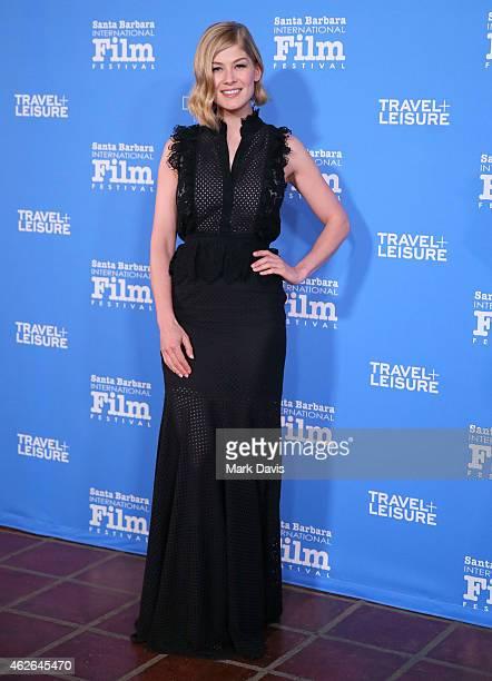 Actress Rosamund Pike attends the Virtuosos Award at the 30th Santa Barbara International Film Festival at the Arlington Theater on February 1 2015...
