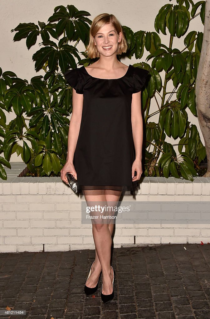 Actress Rosamund Pike attends the W Magazine celebration of the 'Best Performances' Portfolio and The Golden Globes with Cadillac and Dom Perignon at...