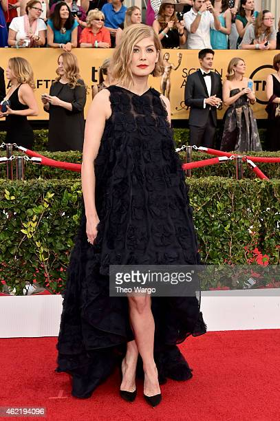 Actress Rosamund Pike attends TNT's 21st Annual Screen Actors Guild Awards at The Shrine Auditorium on January 25 2015 in Los Angeles California...