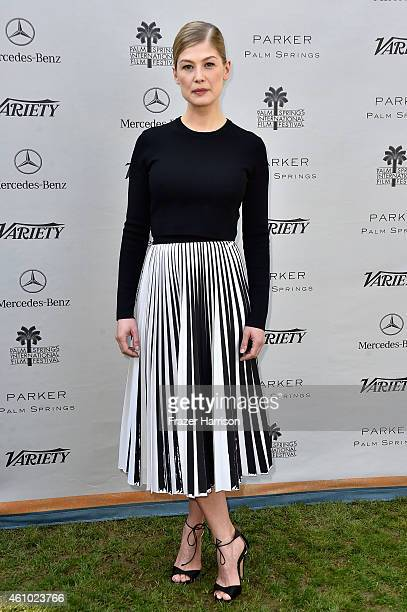 Actress Rosamund Pike attends Variety's Creative Impact Awards and '10 Directors To Watch' brunch presented by Mercedes Benz at Parker Palm Springs...