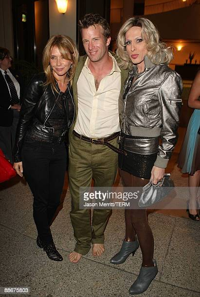 Actress Rosanna Arquette actor Thomas Jane and actress Alexis Arquette during HBO's 'Hung' series premiere after party at Paramount Theater on the...
