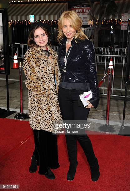 Actress Rosanna Arquette and daughter Zoe Sidel arrive at a special screening of the Weinstein Companies 'NINE' At the Mann Village Theater on...