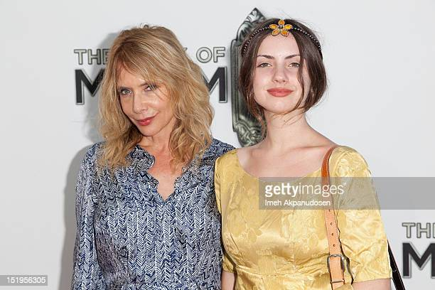 Actress Rosanna Arquette and daugther Zoe Sidel attend the premiere of 'The Book Of Mormon' at the Pantages Theatre on September 12 2012 in Hollywood...