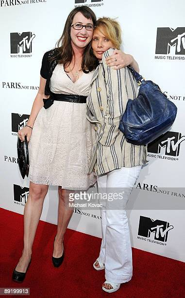 Actress Rosanna Arquette and Director Adria Petty arrive at MTV's 'Paris Not France' Los Angeles screening at Majestic Crest Theatre on July 22 2009...
