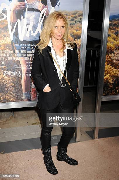 Actress Rosanna Arquette arrives at the Los Angeles premiere of 'Wild' at AMPAS Samuel Goldwyn Theater on November 19 2014 in Beverly Hills California