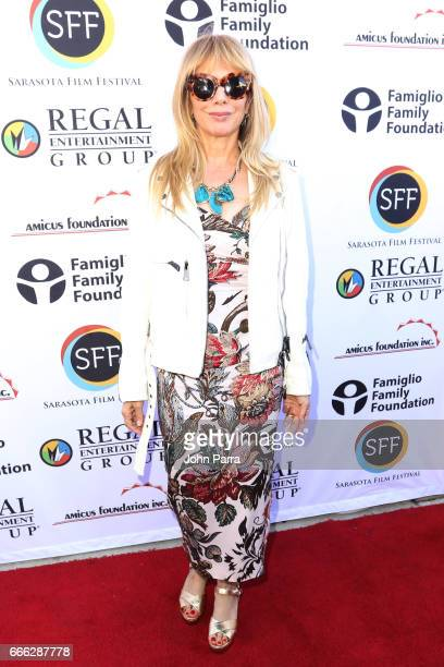 Actress Rosanna Arquette arrives to the closing night ceremony and screening of 'Paris Can Wait' during the 2017 Sarasota Film Festival on April 8...