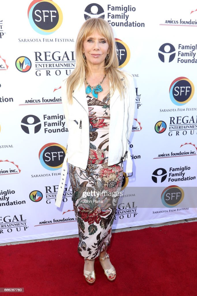 Actress Rosanna Arquette arrives to the closing night ceremony and screening of 'Paris Can Wait' during the 2017 Sarasota Film Festival on April 8, 2017 in Sarasota, Florida.