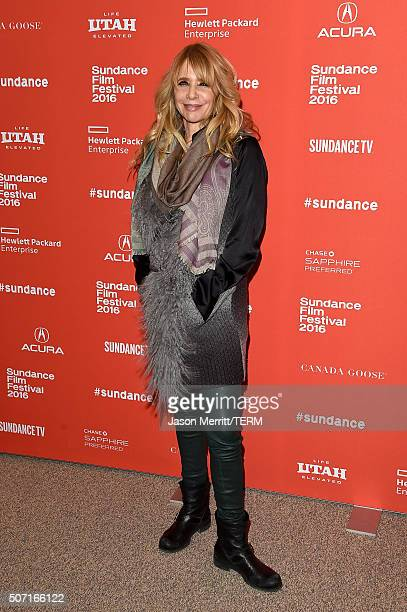 Actress Rosanna Arquette attends the 'Frank Lola' premiere during the 2016 Sundance Film Festival at Eccles Center Theatre on January 27 2016 in Park...