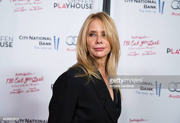 Actress Rosanna Arquette attends the 'I'll Eat You Last A Chat With Sue Mengers' opening night performance with Bette Midler at Geffen Playhouse on...