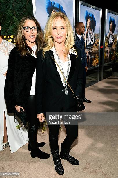 Actress Rosanna Arquette attends the premiere of Fox Searchlight's 'Wild' at AMPAS Samuel Goldwyn Theater on November 19 2014 in Beverly Hills...
