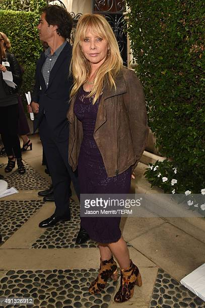 Actress Rosanna Arquette attends The Rape Foundation's annual brunch at Greenacres The Private Estate of Ron Burkle on October 4 2015 in Beverly...