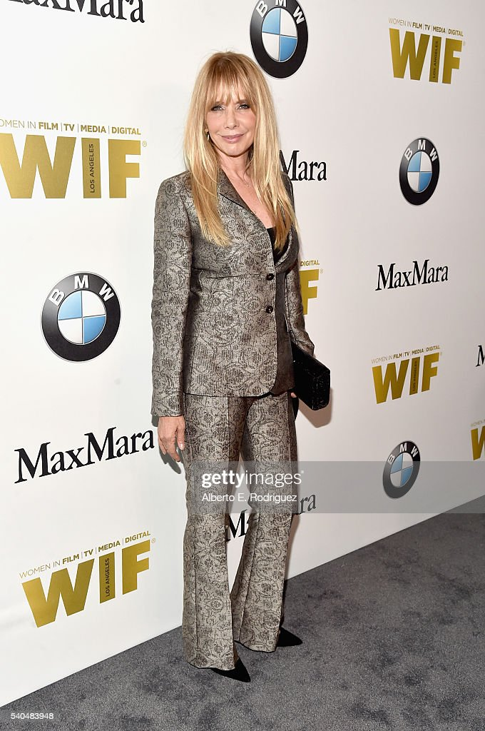 Actress Rosanna Arquette wearing Max Mara attends Women In Film 2016 Crystal Lucy Awards Presented by Max Mara and BMW at The Beverly Hilton on June...