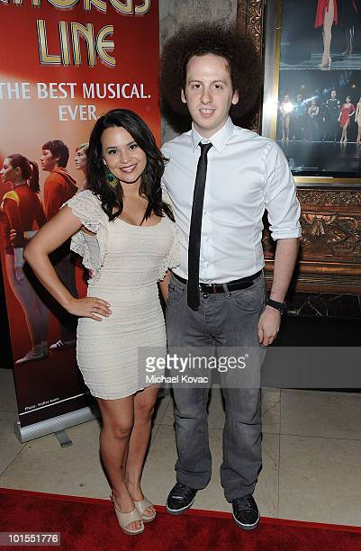 Actress Rosanna Pansino and actor Josh Sussman arrive at the Los Angeles opening night of 'A Chorus Line' at the Pantages Theatre on June 1 2010 in...