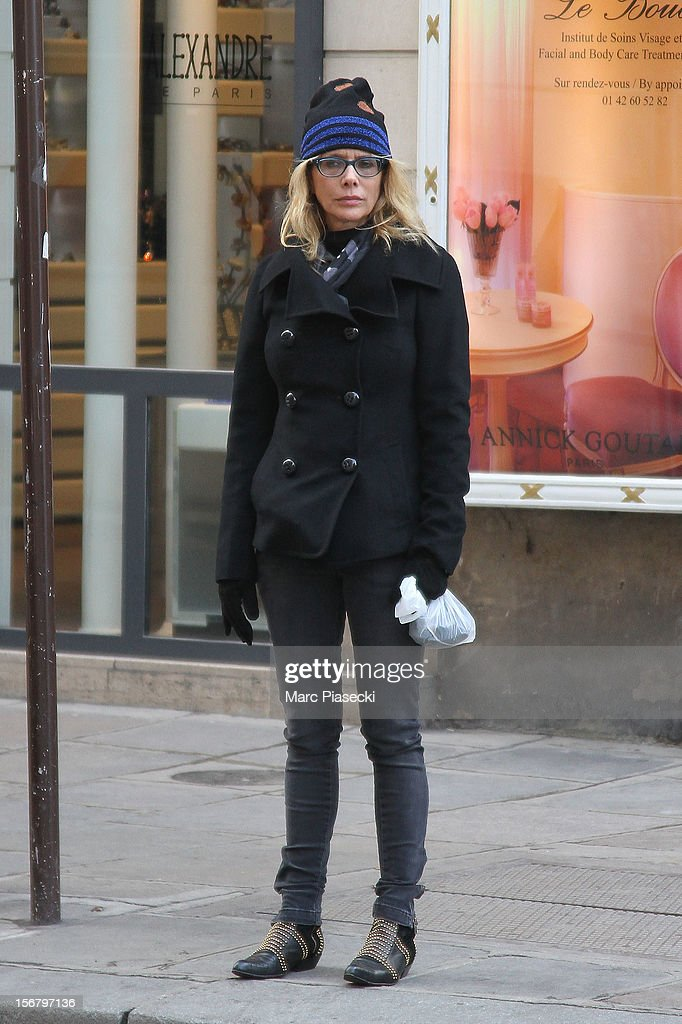 Actress Rosanna Raquette is seen strolling on 'Rue de Castiglione' on November 21, 2012 in Paris, France.
