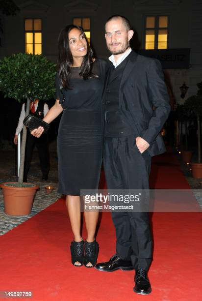 Actress Rosario Dawson and actor Clemens Schick attend the Montblanc Young Directors Project at the Galerie Ropac on July 31 2012 in Salzburg Austria