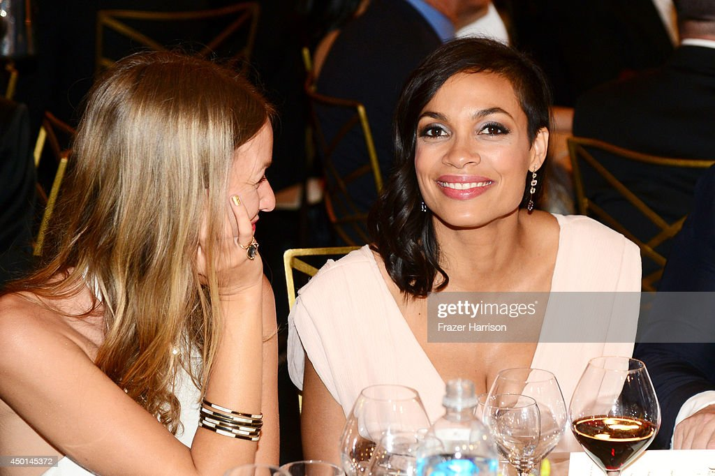 Actress Rosario Dawson (R) and guest attend the 2014 AFI Life Achievement Award: A Tribute to Jane Fonda at the Dolby Theatre on June 5, 2014 in Hollywood, California. Tribute show airing Saturday, June 14, 2014 at 9pm ET/PT on TNT.