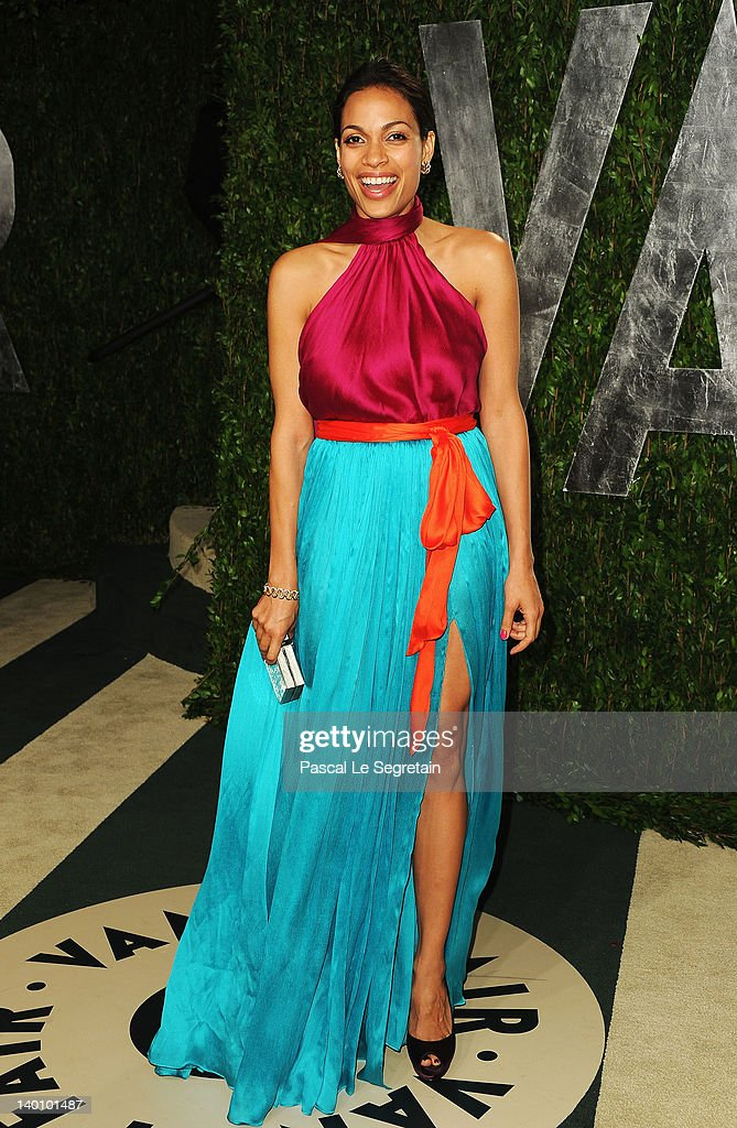 Actress <a gi-track='captionPersonalityLinkClicked' href=/galleries/search?phrase=Rosario+Dawson&family=editorial&specificpeople=201472 ng-click='$event.stopPropagation()'>Rosario Dawson</a> arrives at the 2012 Vanity Fair Oscar Party hosted by Graydon Carter at Sunset Tower on February 26, 2012 in West Hollywood, California.