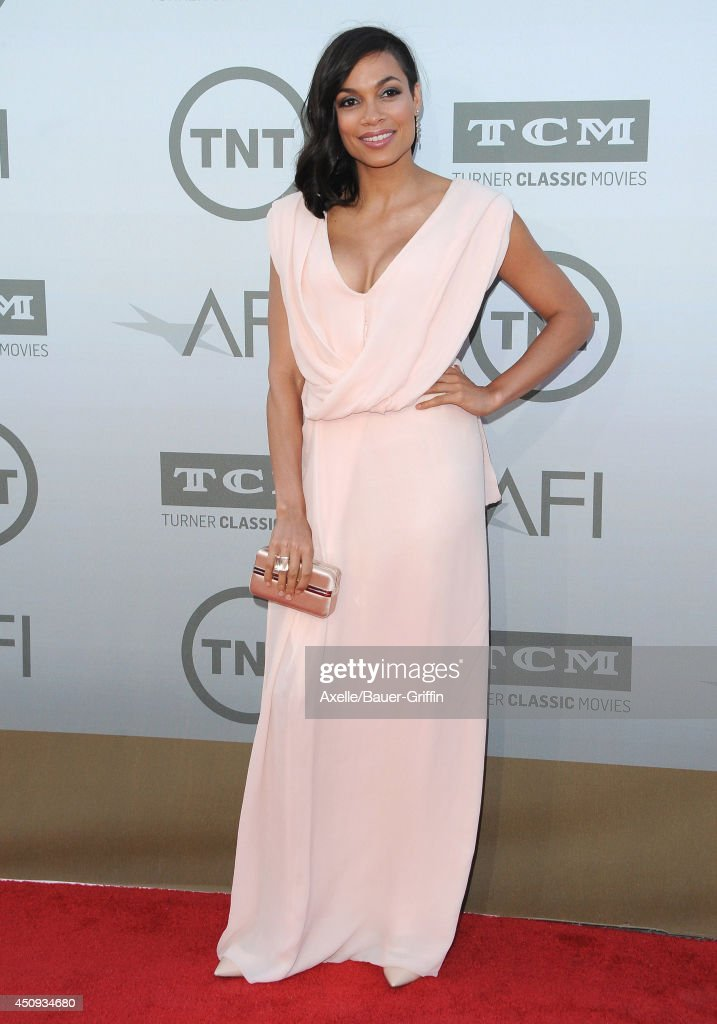 Actress <a gi-track='captionPersonalityLinkClicked' href=/galleries/search?phrase=Rosario+Dawson&family=editorial&specificpeople=201472 ng-click='$event.stopPropagation()'>Rosario Dawson</a> arrives at the 2014 AFI Life Achievement Award Gala Tribute at Dolby Theatre on June 5, 2014 in Hollywood, California.