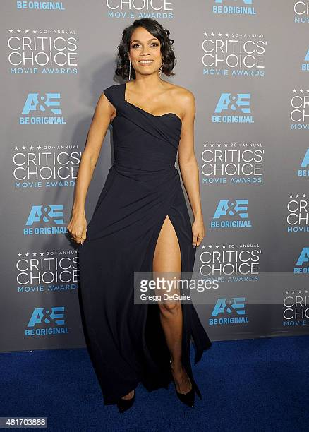 Actress Rosario Dawson arrives at the 20th Annual Critics' Choice Movie Awards at Hollywood Palladium on January 15 2015 in Los Angeles California