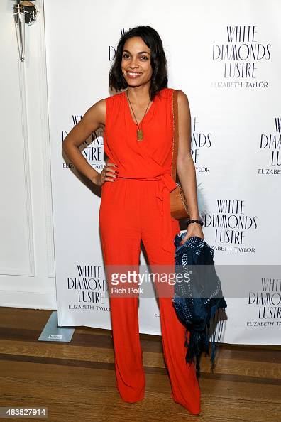 Actress Rosario Dawson arrives at the Alfre Woodard's Oscar's Sistahs Soiree by White Diamond Lustre Elizabeth Taylor at the Beverly Wilshire Hotel...