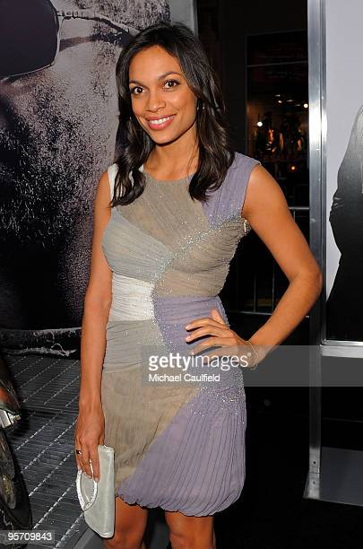 Actress Rosario Dawson arrives at 'The Book Of Eli' premiere held at Grauman's Chinese Theatre on January 11 2010 in Hollywood California