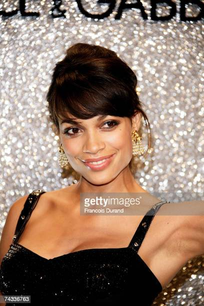 Actress Rosario Dawson arrives at the Dolce Gabbana Party held at the Baoli Restaurant during the 60th International Cannes Film Festival on May 25...