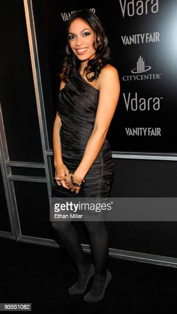 Actress Rosario Dawson arrives at the grand opening of Vdara Hotel Spa at CityCenter hosted by Vanity Fair December 1 2009 in Las Vegas Nevada The...