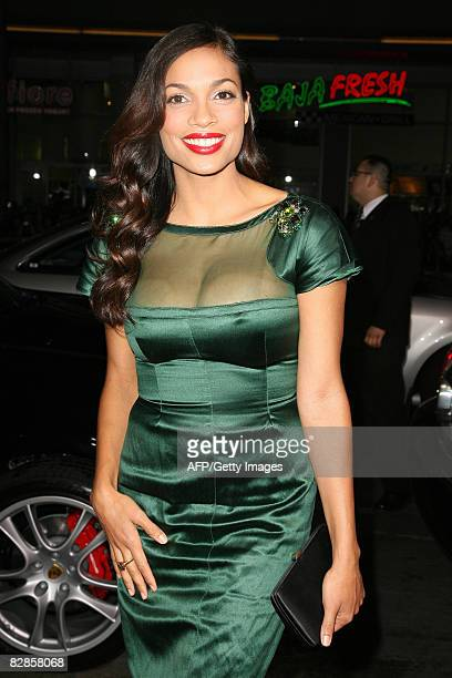 Actress Rosario Dawson arrives at the premiere of Eagle Eye at the Mann Chinese Theater in Hollywood on september 16 2008 AFP PHOTO/VALERIE MACON